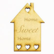 3mm MDF Wood Laser Cut Craft Shapes - Tags Home Sweet Home